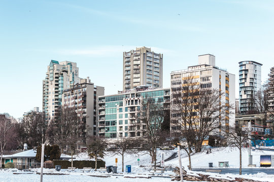 Vancouver covered in snow, BC, Canada
