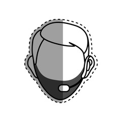 Faceless man head icon vector illustration graphic design