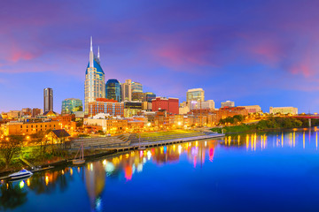 Wall Mural - Nashville, Tennessee downtown skyline