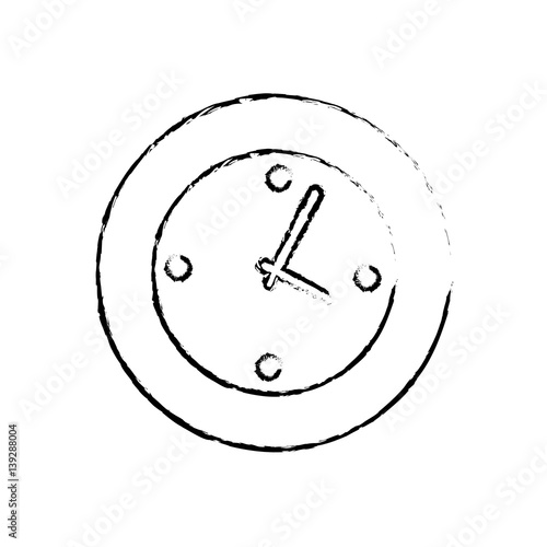quotwall watch clock icon vector illustration graphic design