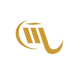 initial letter ML gold color logo vector