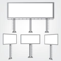 Set blank big billboard. Mockup for your advertisement and design.