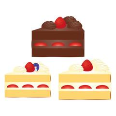 ショートケーキとペンギン