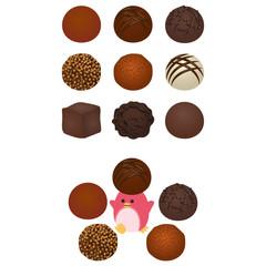 チョコレートトリュフとペンギン