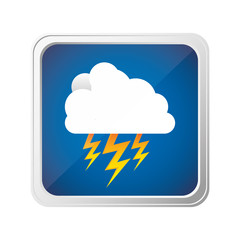 emblem cloud ray icon, vector illustraction design image