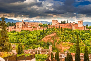 Wall Mural - Arabic palace - fortress of Alhambra, Andalusia, Granada, Spain