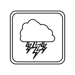 emblem cloud with ray icon, vector illustraction design image