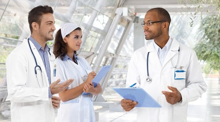 Doctors and nurse at hospital