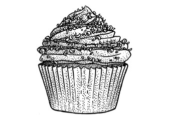 Cupcake, what made by ink, then it was digitalized.