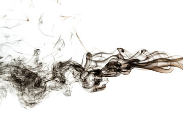 Wall Mural - abstract black smoke on white background
