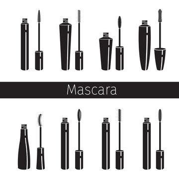 Mascara Set, Monochrome, Makeup, Accessories, Equipment, Beauty, Facial, Fashion