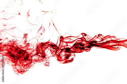 Fototapete Red Smoke abstract background.