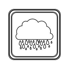 figure emblem cloud rainning icon, vector illustraction design image