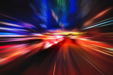 Abstract motion blur of light explosion effect