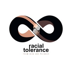 Racial Tolerance between different Nations conceptual symbol, Martin Luther King Day
