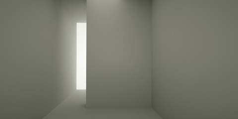 Abstract interior, 3d render