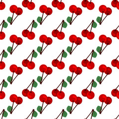 Cherry seamless pattern. concept of recreation