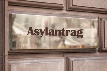 Schild 205 - Asylantrag