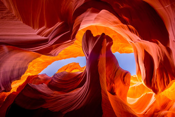 Aluminium Prints Orange Glow Antelope Canyon natural rock formation