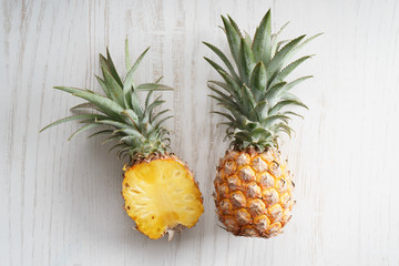 Ripe pineapple Wall mural