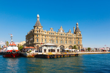 Istanbul ferry and Haydarpasa railway station.