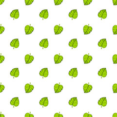 Vector illustration. Seamless pattern. Green tree leafs up and down. Decoration for gift paper, prints for clothes, textiles, wallpapers