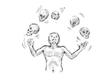 juggler skulls illustration