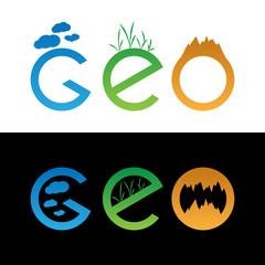 set of geo logos
