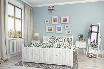 Skandinavisches, nordisches Schlafzimmer