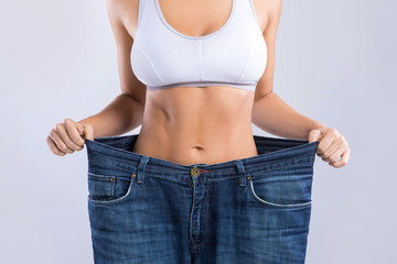 Woman after weight-loss