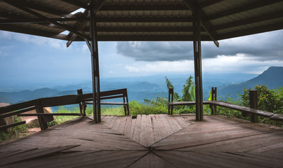 mountain landscape view point at Phu Tubberk in Phetchabun thailand.