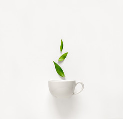 Tea concept, top view