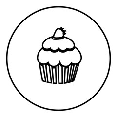 figure emblem muffin icon, vector illustraction design image