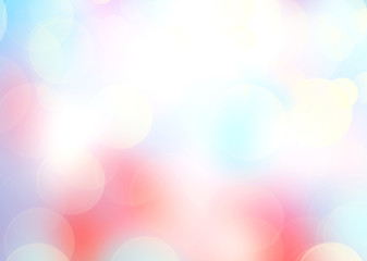 Soft romantic light blur bokeh background.