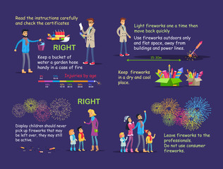 Picture Instruction for Right Firework Usage.