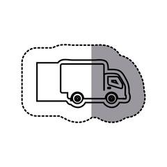 silhouette emblem car icon, vector illustraction design image