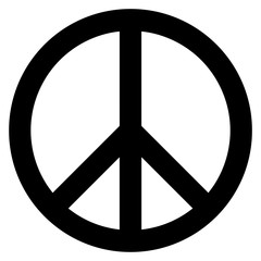 Peace symbol. The symbol originally designed for the British nuclear disarmament movement is now widely used. Vector Format.
