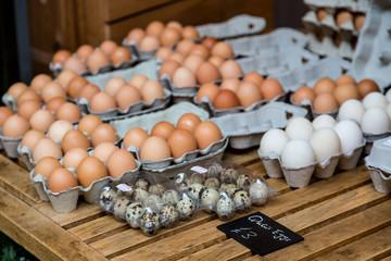 Quail Eggs in Market