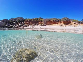 turquoise sea in Alghero