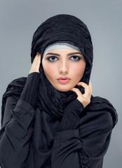 Woman in a Muslim headscarf hijab