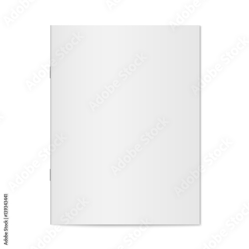 Notebook Template | Vector Mock Up Of Booklet Isolated Closed Vertical Magazine