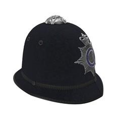 UK Bobby Pith Helmet on white. 3D illustration