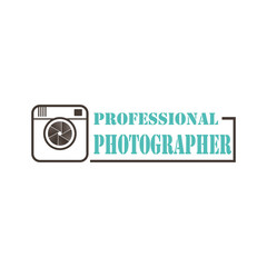 Professional Photographer logo design vector template