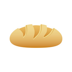 realistic picture homemade bread food icon vector illustration