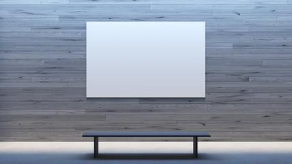 Minimal interior mock up poster frame gallery / 3d render image