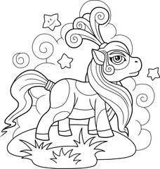 little cute pony coloring book