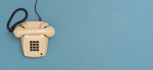 eighties retro telephone header