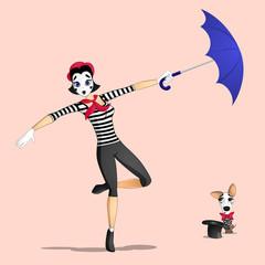 Girl mime performance