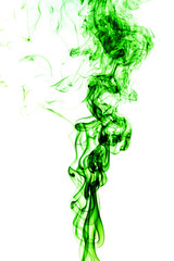Wall Mural - Abstract green smoke on white background, smoke background,green ink background,green, beautiful color smoke