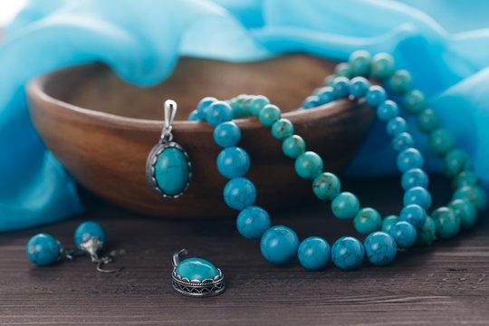 turquoise handmade bijouterie